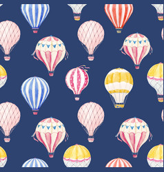 watercolor air baloon pattern vector image