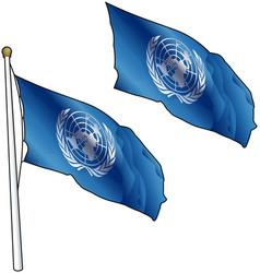 Waving united nations flag vector