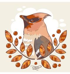 Wax bird colorful tattoo vector