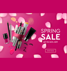 web page design template for spring sale vector image