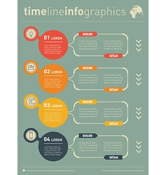 Web Template for diagram or presentation Business vector