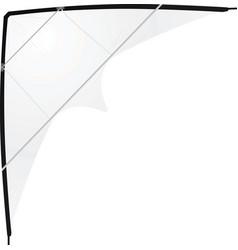 white kite vector image