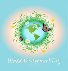 World environment day promotion poster vector