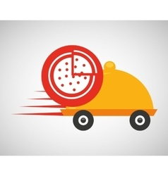fast delivery food pizza vector image