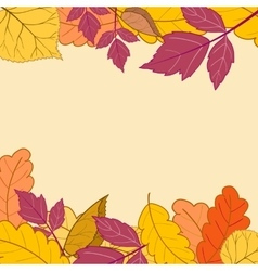 Frame with bright autumn leaves-01 vector image vector image