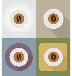 objects for food flat icons 06 vector image