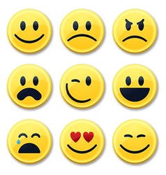 Smiley and Emotion Faces vector image