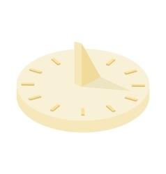 Sundial icon cartoon style vector image