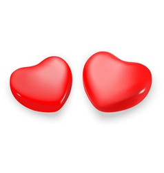Two hearts vector image vector image