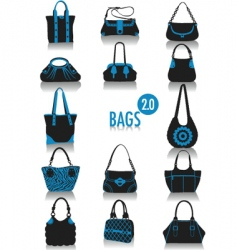 bags silhouette vector image