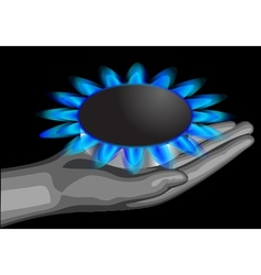 gas on the palm vector image