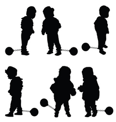 child with prision ball vector image
