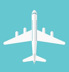 flat style airliner isolated vector image vector image