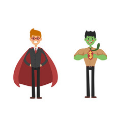 superhero business man set vector image vector image