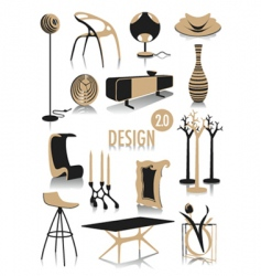 design silhouettes vector image vector image