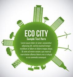 eco city design eps10 graphic vector image