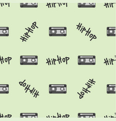 graffiti hip-hop music text art urban vector image