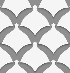 White simple shapes on gray pattern vector image vector image