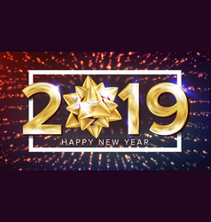 2019 happy new year background decoration vector image