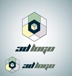 3d logo 5 vector image