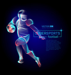 abstract american football or rugplayer male vector image