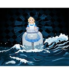 Alice in jar vector