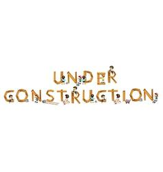 An under construction sign vector