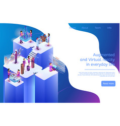 Augmented and virtual reality in everyday life 3d vector