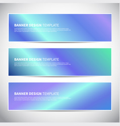 Banners or headers with holographic gradient vector