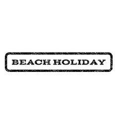 Beach holiday watermark stamp vector