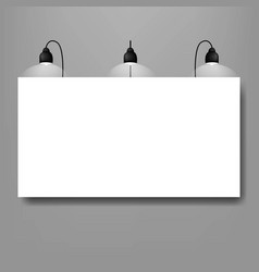 black lamp with banner grey background vector image