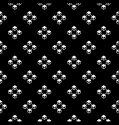 blockchain dark seamless pattern or texture vector image