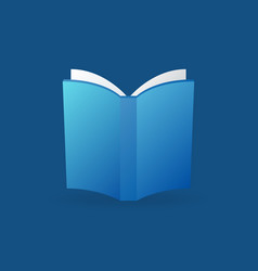 blue book colorful icon or logo vector image