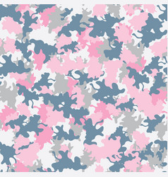 camouflage background seamless pink grey vector image