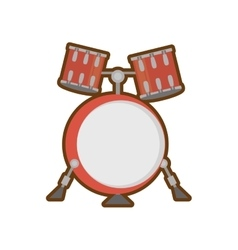 cartoon drum kit precussion musical vector image