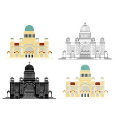 Cathedral saint andrew in patras city vector