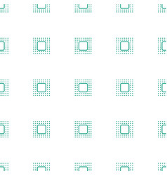 chip icon pattern seamless white background vector image