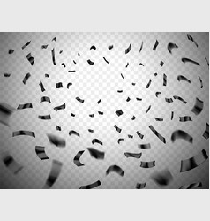confetti explosion on transparent background vector image