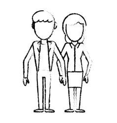 couple people together relation sketch vector image