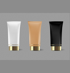 Cream or cream tube isolated template for vector