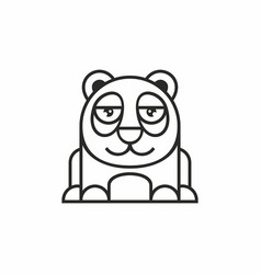 cute panda icon on white background vector image