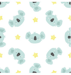 cute seamless pattern with koalas for prints vector image