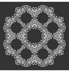 Damask wallpaper Circle lace ornament round vector