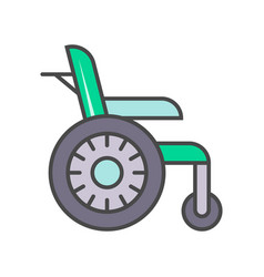 disability wheelchair linear icon vector image