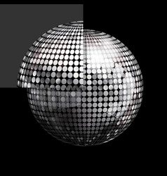 disco ball and panel on black background vector image