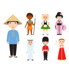 diverse avatars cartoon characters different vector image
