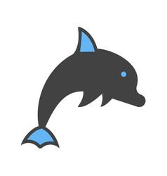 Dolphin ocean beautiful vector