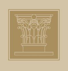 element classic architectural decor vector image