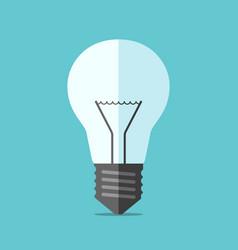 Flat style light bulb vector