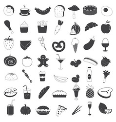 Food and Drink Icons Collection vector image